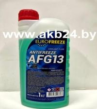 Антифриз Eurofreeze. 1кг. Зеленый. Низкая цена.
