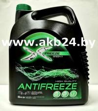 Антифриз X-Freeze G-11 до -40°С 5 кг. Зеленый.