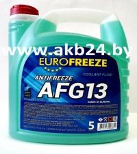 Антифриз Eurofreeze. 5кг. Зеленый. Самая низкая цена.