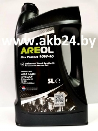 Моторное масло Areol Max Protect 10W-40 5л.