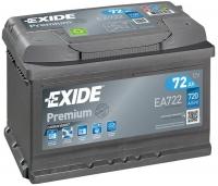 Exide Premium EA722 72Ah